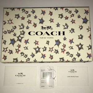 Coach Box Cards Tags for 58365B Wristlet - EMPTY